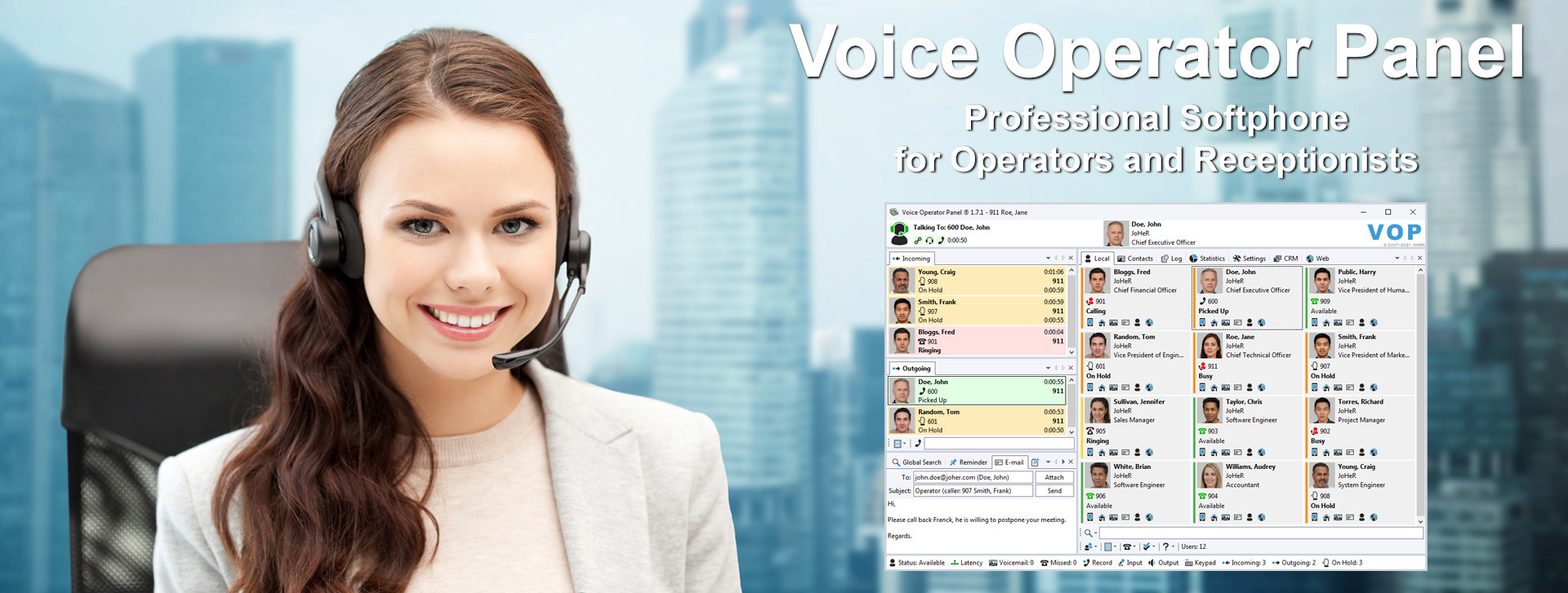 Voice Operator Panel - Professional Softphone for Operators and Receptionists